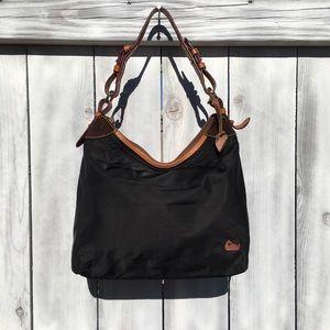 Dooney & Bourke Satchel Nylon/Leather Bag